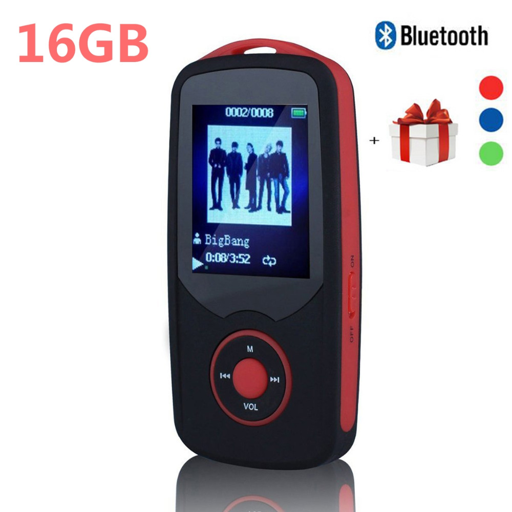 2017 Original RUIZU X06 16G Bluetooth MP3 Music Player 1 8 Inch 100hour High Quality Lossless