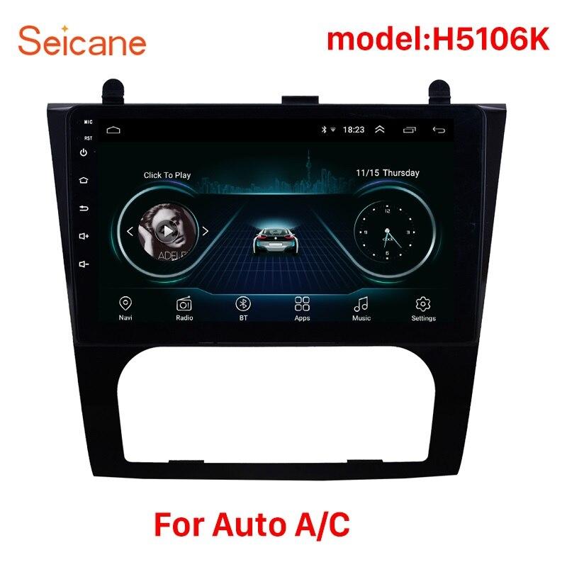 Seicane Android 8.1 9 pouces 2Din autoradio GPS Headunit lecteur pour 2008 2009 2010 2011 2012 Nissan Teana ALTIMA Auto A/C