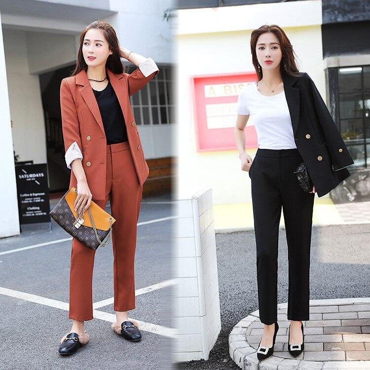 Mode loisirs costume costume femme version coréenne de la nouvelle saveur de Hong Kong tempérament rétro deux pièces