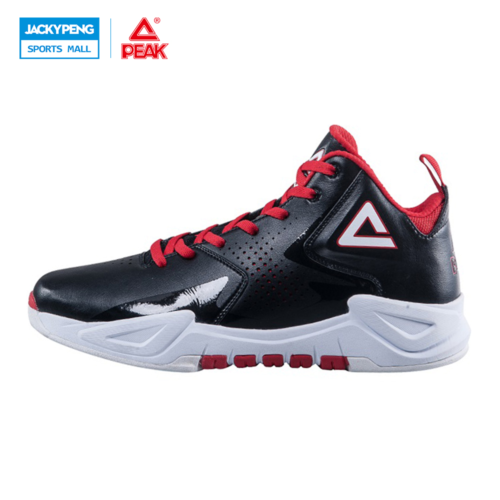 ФОТО PEAK Ares I Authent New Men Basketball Shoes Shock Absorption Non-Slip Sneakers Breathable High-Top Athletic Training Ankle Boot