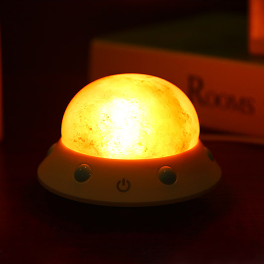 USB Crystal Salt Night Light Himalayan Crystal Rock Salt Lamp LED Air Purifier Night Light Rechargeable Bedroom Night lamp beautiful night lamp triangle hand carved usb wooden base himalayan crystal rock salt lamp air purifier night light