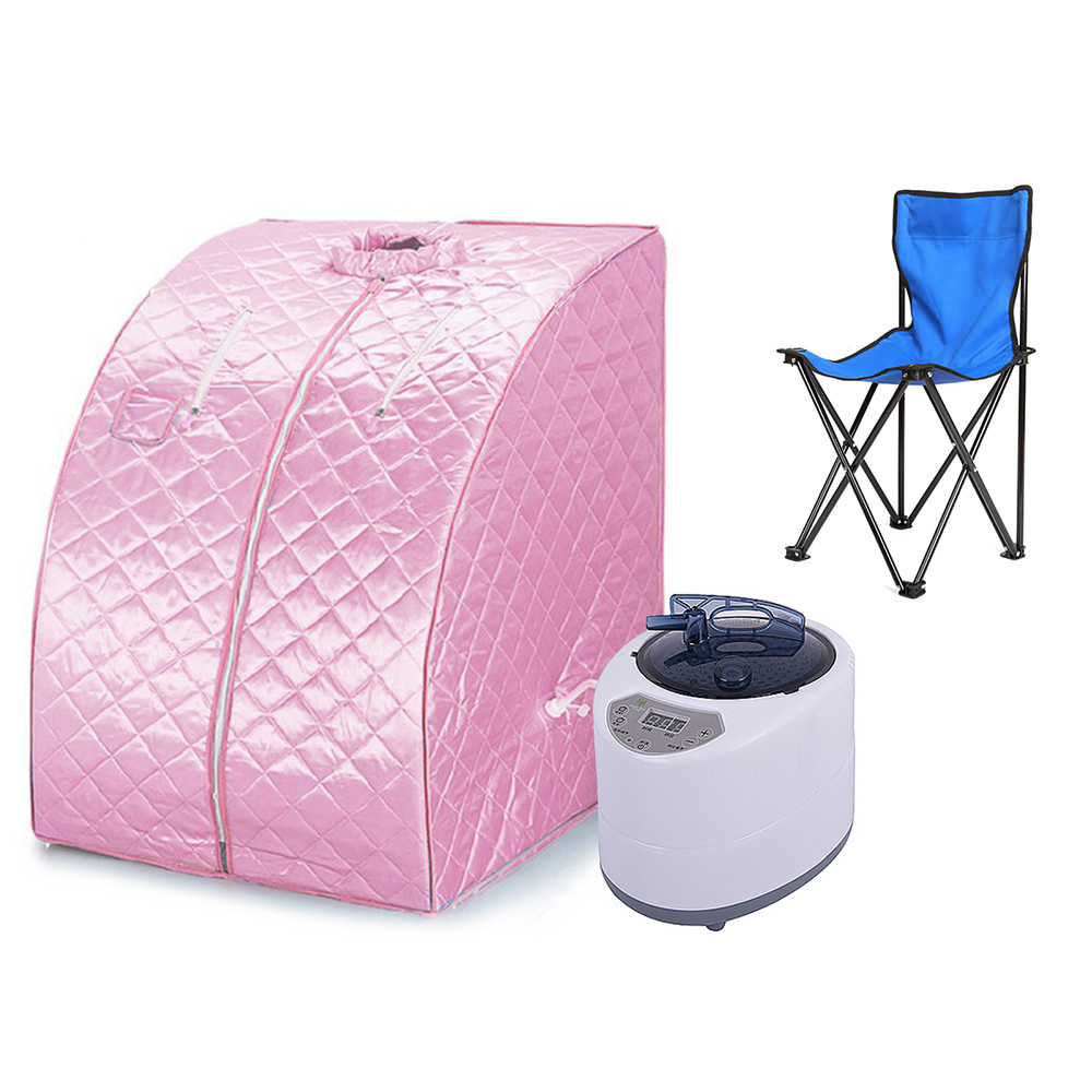 Brand Loss Weight Sauna Spa Head Cover Tent Therapeutic Steam Spa Full Body Slim Detox Home Slimming Sauna Box +Chair Set HWC 2017 top selling most popular heating steam box home steam sauna fat burning and body slimming sauna room chair included