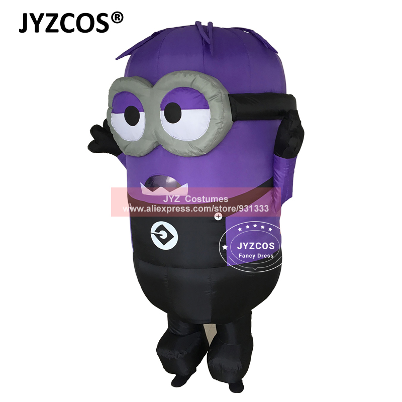 JYZCOS Inflatable Minion Halloween Costumes for Adult Despicable Me 2 Anime Cosplay Blow Up Mascot Purim Fancy Dress Cartoon (5)