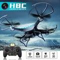 Jjrc h8c fotografía aérea cámara de 2mp hd 6 axis gyro helicóptero de control remoto 360 grados vuelco de luz led drone