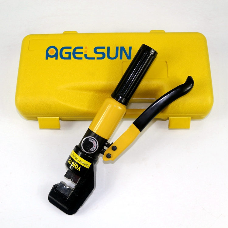 Free Shipping Hydraulic Crimping Plier Hydraulic Compression Tool YQK-70 Range 4-70MM2 with 6 T power  цена и фото