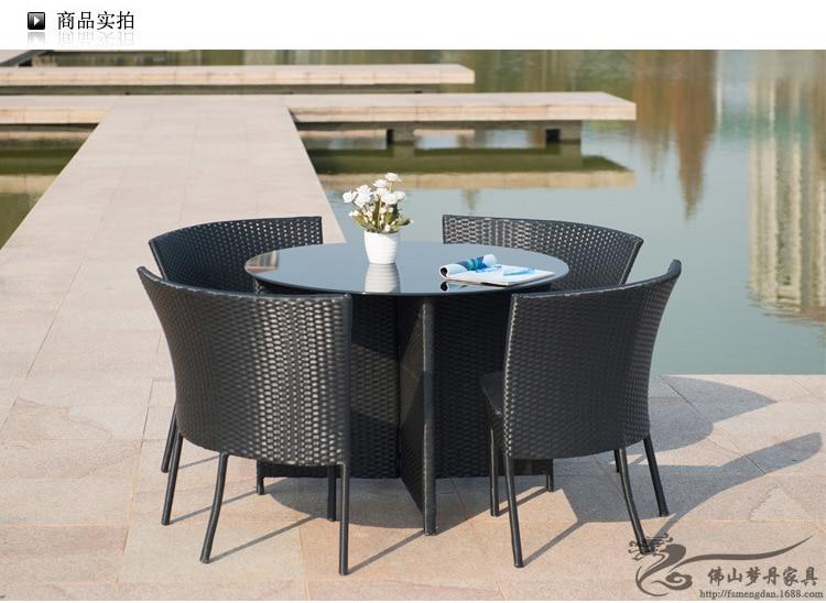 Mobilier Dexterieur Balcon Jardin En Rotin Table Et Chaises Pour Ensemble LT10 Dans Ensembles De Meubles Sur AliExpress