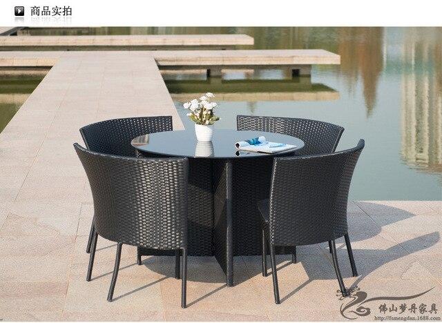 Muebles de exterior balcón jardín ratán mesa y sillas conjunto LT10 ...