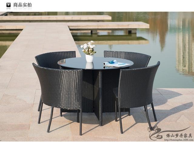 mesa jardim promocao:.com: Compre Varanda ao ar livre mobiliário de jardim em rattan mesa