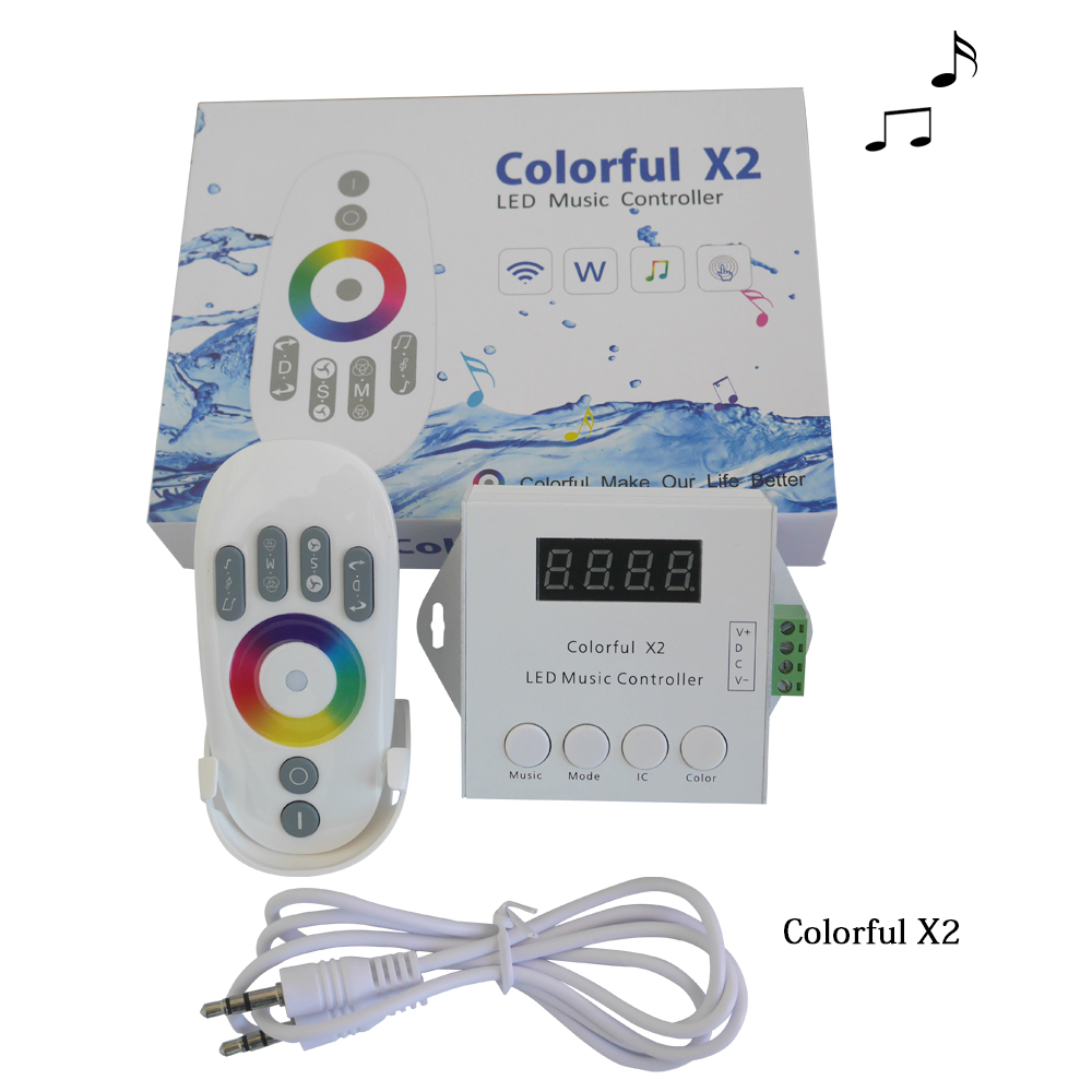 DC5-24V WS2812B WS2811 WS2813 6803 USC1903 IC Digital Adressierbare Led-streifen Musik Controller 1000 Pixel Bunte Controller