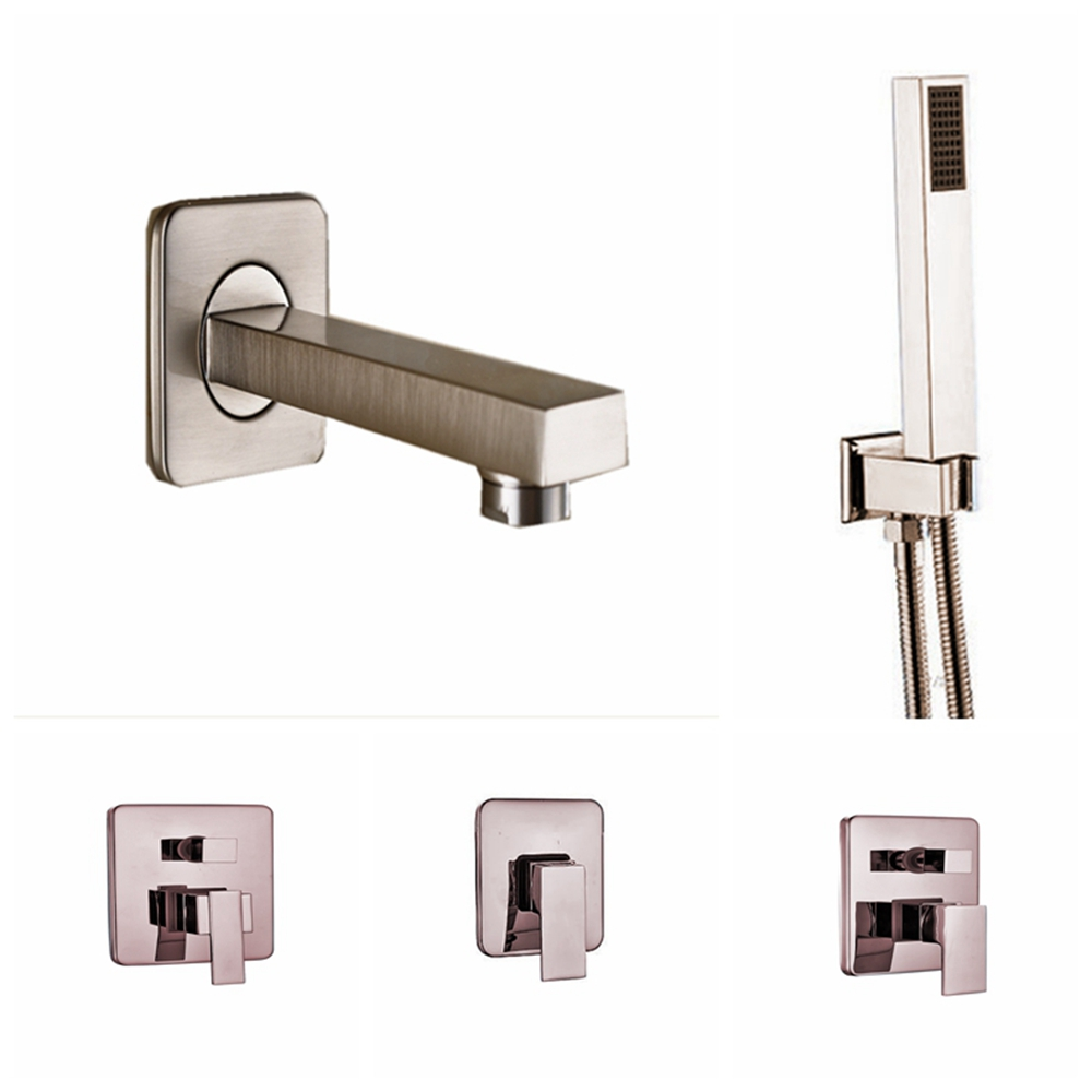 Newly Arrival Free Shipping Bathroom Shower Hand Shower Brushed Nickel Finish