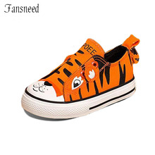 Children Canvas Shoes Boy Cartoon Animal Pattern Plate Breathable Comfortable Cute Girls