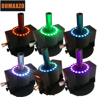 6pcs/lot DMX512 CO2 Blaster 18pcs RGB 3in1 LED Jet Machine Large sized Device Co2 Cryogenic Special Effects Nightclub Cannon Jet