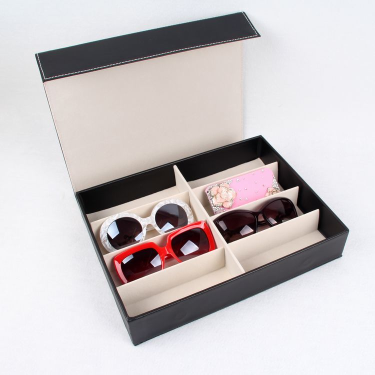 Counter Jewelry Watch Storage Display Box 8 Grid Sunglasses Display Package Case