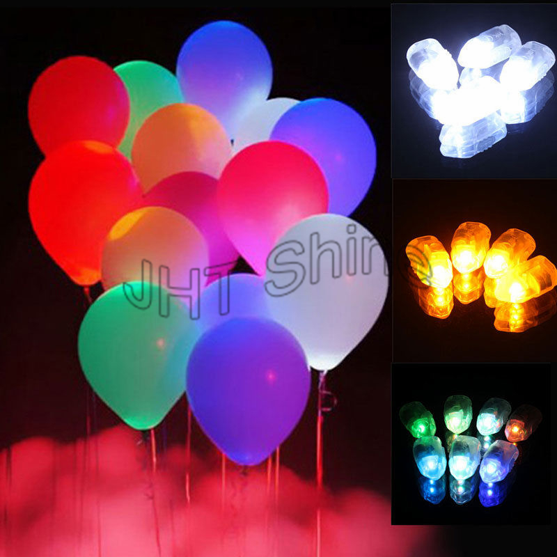 100X Colorful LED Lamp Balloons Lights For Paper Lantern Wedding Hookah Party Christmas Vase Birthday Decoration Mini LED Light