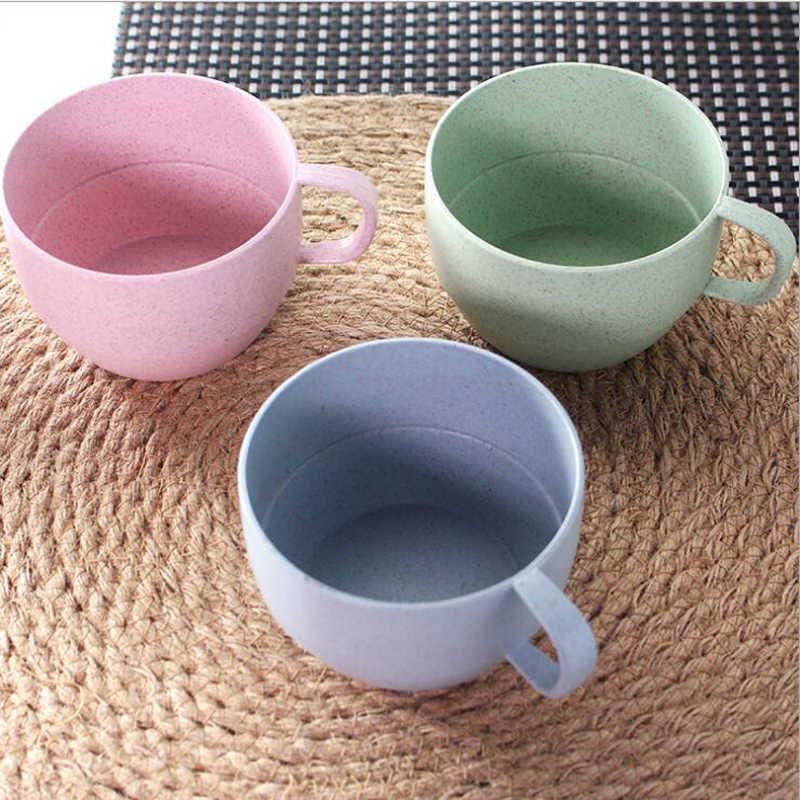 Творческий Пшеничная солома + PP Материал окружающую среду Кофе кружка для чая молока кружка парные чашки воды бутылки, кухонные принадлежности