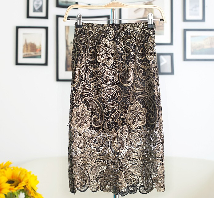 Aliexpress.com : Buy Autumn New European Style Womens Lace Skirt ...