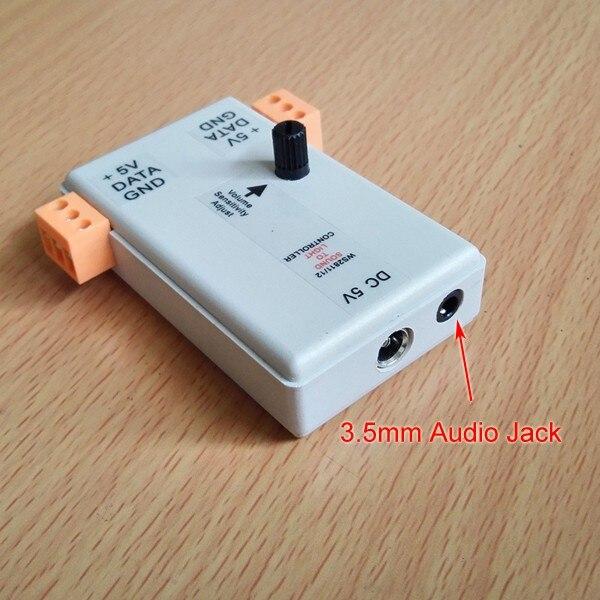 Rasha New Arrival 5V WS2811/2812 Sound to Light Controller With Audio Jack For LED Strip Light DMX Controller DMX Interface new arrival e1 31 sacn dmx controller to dmx interface bridge for madrix magicq luminair dmx over ethernet