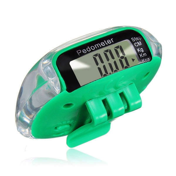 SZ-LGFM-LCD Digital Multi Pedometer Calorie Counter Run Fitness - Green