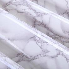 Серый Мраморный Водонепроницаемый самоклеющиеся Виниловые Обои Наклейки Современный Контакт Бумага Кухонных Столешниц, Полки Ящик Лайнера DIY 3D