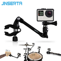 360 Rotate Music Mount Holder Arm Stand Clamp Guitar Drum Clips For For GoPro Hero 5