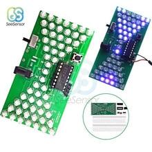 5V светодиодный электронный песочные часы DIY Kit Регулируемая скорость электронные DIY наборы светодиодный двухслойный Модуль платы блока программного управления