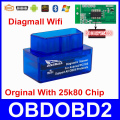 Super Mini Diagmall Wifi 25K80 Chip For All OBD2 Protocols Better Than ELM327 ELM 327 V1.5 OBDII Car Diagnostic Tool Android IOS