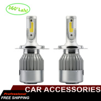 2X H7 Led H4 Car Headlights 72w 7600lm Car Led Light Bulbs H1 H3 H8 H9