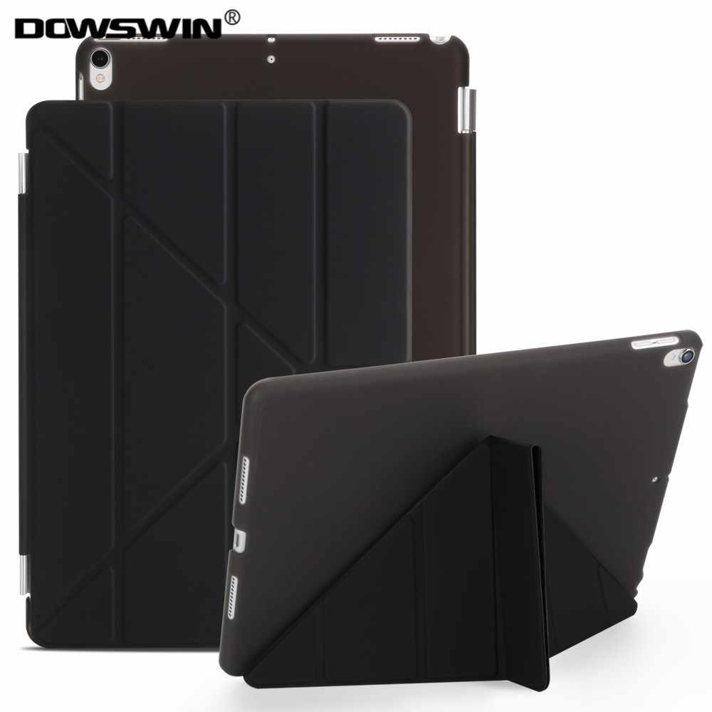 For ipad pro 10.5 inch case,Dowswin smart cover&pc transparent  back cover Candy colors flip stand case for ipad pro 10.5 inches soft case back cover for xiaomi redmi 4 pro transparent