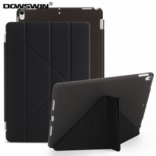 For ipad pro 10.5 inch case,Dowswin smart cover&pc transparent  back cover Candy colors flip stand case for ipad pro 10.5 inches