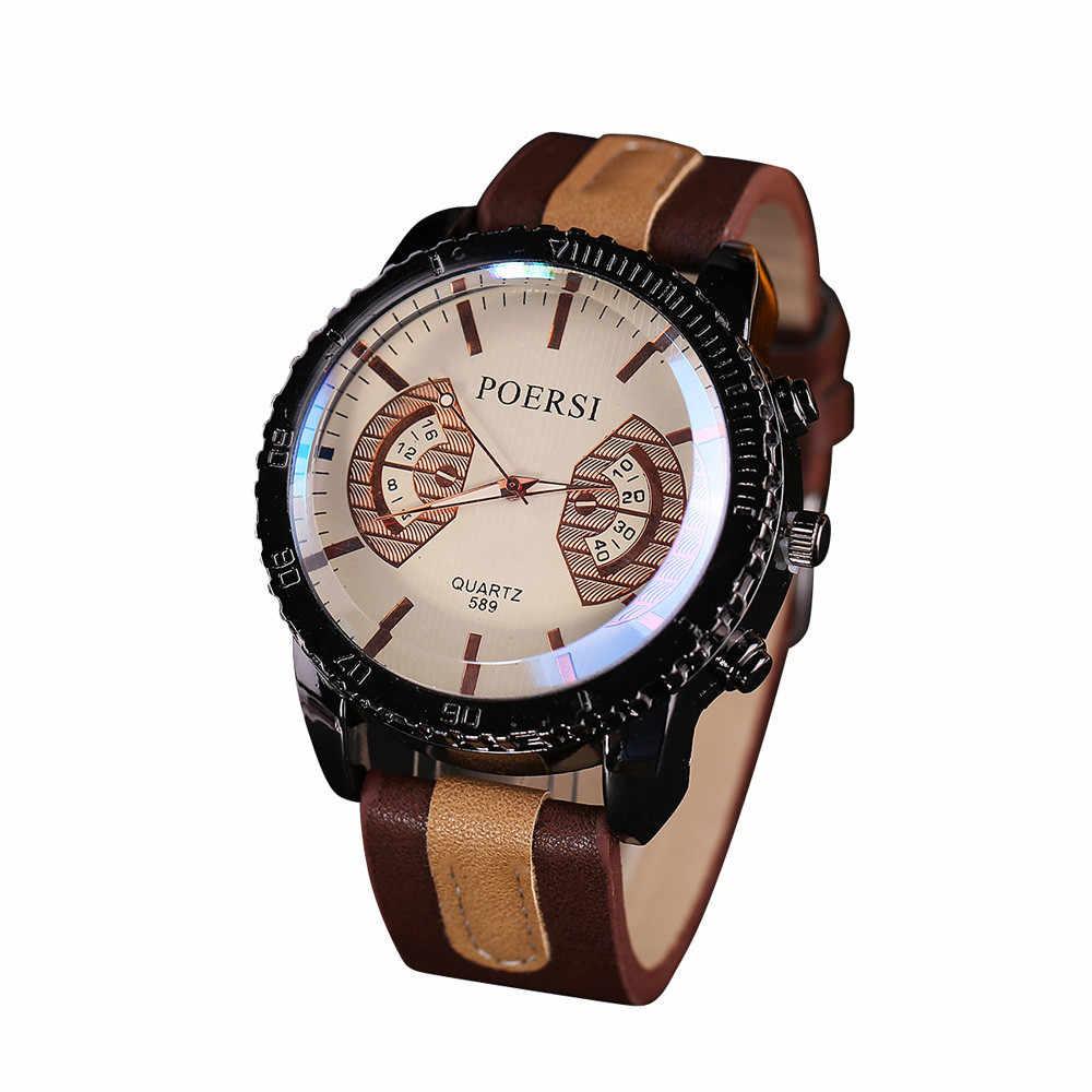 2020 Luxe Merk Mannen Horloges Mannelijke Klok Casual Lederen Quartz Horloge Heren Sport Horloge Relogio Masculino Erkek Kol Saati