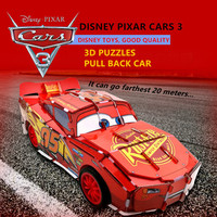 Disney Pixar New Lightning Mcqueen DIY Educational Assembly 3D Puzzle Toys Pull Back Cars 3 With
