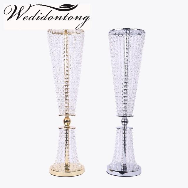 Top Modern 80cm Tall Candelabra Candle Holder Silver Gold Acrylic  XV97