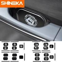 SHINEKA 5PCS Aluminum Alloy Car Door Tail Door Handle Outer Door Bowl Sticker For Jeep Wrangler JL Accessories 2018+ 4 Door