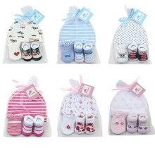 1 сумка Детские носки+ Анти-Царапины перчатки+ головной убор, комплект детской одежды, милая шапочка для малыша с героями мультфильма, комплекты для новорожденных, одежда для маленьких мальчиков и девочек 100 дней/1 месяц вечерние подарок