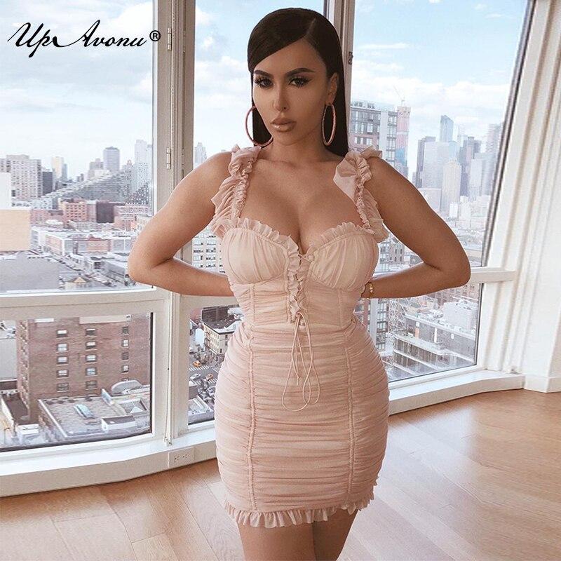 Nouveau 2018 Gros blanc Stretch Bandage Up097 Rose Évider Dropship Automne Mini Celebrity Sexy Moulante Robe Femmes Blanc Hiver Party SdUqXdrZ
