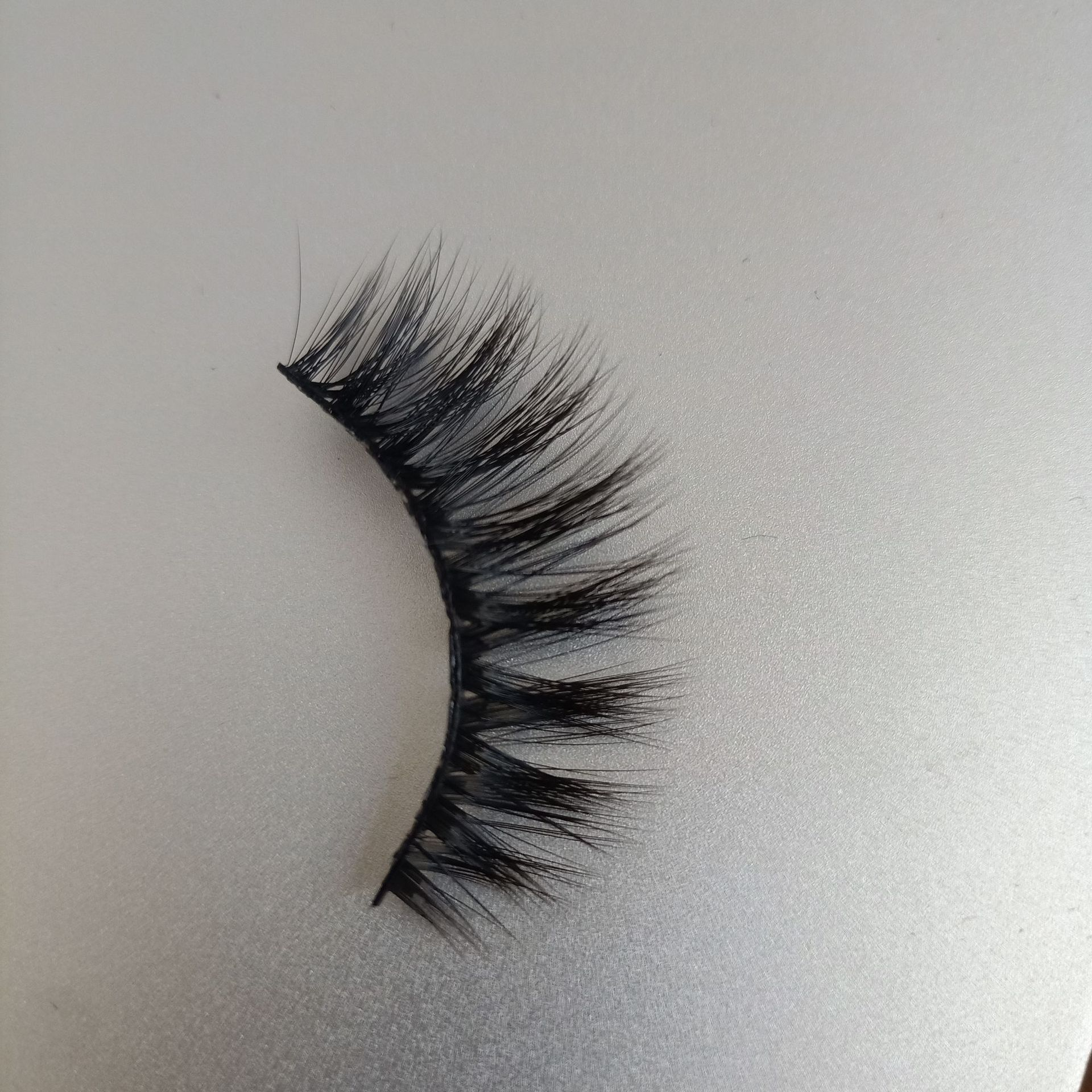 KESMALL 3 Pairs Per Box Mink Fur 3D 15 Eyelashes Natural Thick A False Eyelashes Self Adhesive False Eyelashes CL0073