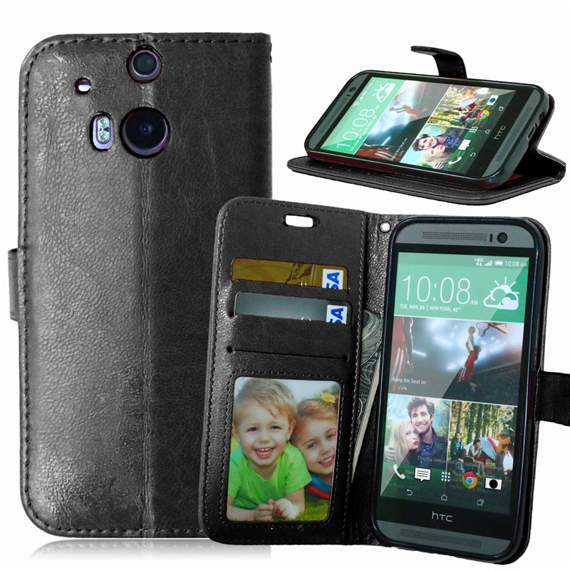 Hot Wallet Case For HTC One M8 M8s / HTC One 2 Magnetic Flip PU Leather Case With Photo Frame Card Holder Stand Cover