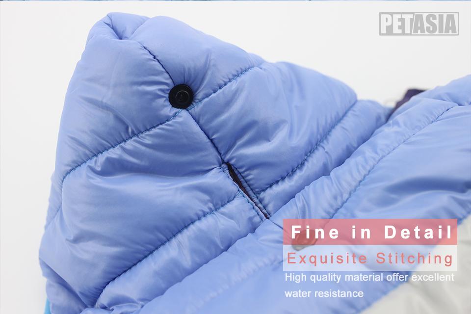 Nueva ropa de invierno para perros, abrigo impermeable con capucha 5