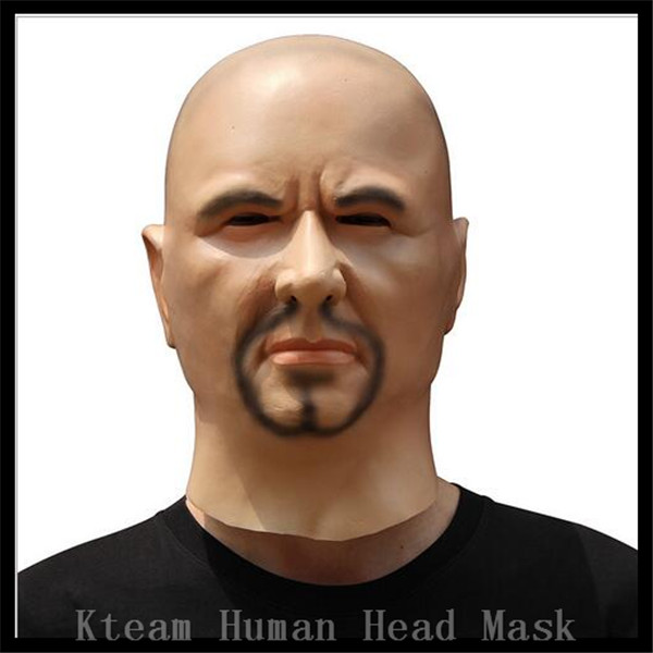 Halloween Party Cosplay Realistic Cosplay Costume Fancy Dress Deluxe Latex Breaking Bad Man Mask Human Face Mask Male Head mask