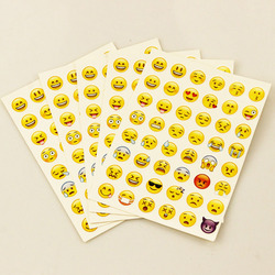 1 Pcs etiqueta 48 Emoji Sorriso rosto adesivos para notebook álbuns clássicos mensagem Instagram Twitter Grande Viny brinquedos Clássicos