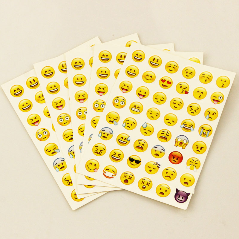 1 Pcs sticker 48 classic Emoji Smile face stickers for notebook albums message Twitter Large Viny Instagram Classical toys new cute head portrait sticker smiling face interesting smile face stickers children kids toy for phone notebook message twitter