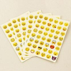1 piezas etiqueta engomada 48 clásico sonrisa Emoji cara pegatinas para portátil álbumes mensaje Twitter gran Viny Instagram clásica Juguetes