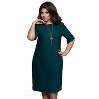 6XL Large Size 2017 Summer Dress Big Size Casual Office Dress Blue Red Green Straight Dresses