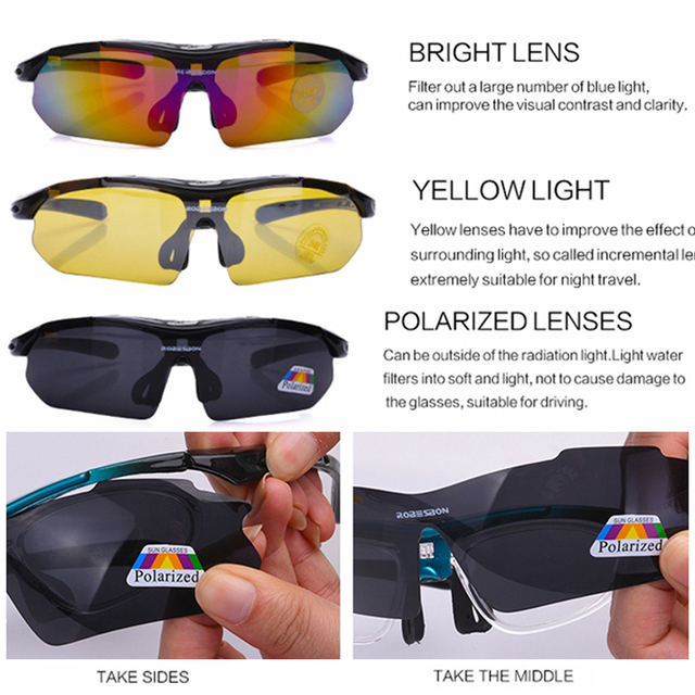 2020 Polarized Cycling Glasses Eyewears 3 Lens Uv400 Mountain Road Bicycle Glasses Mtb Running Fishing Sunglasses Eyewear 3