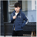 Brand 2017 Winter New Men's Solid Parkas Fashion Padded Street wear Casual Overcoat Winter Jacket Men Suit For -20 B010