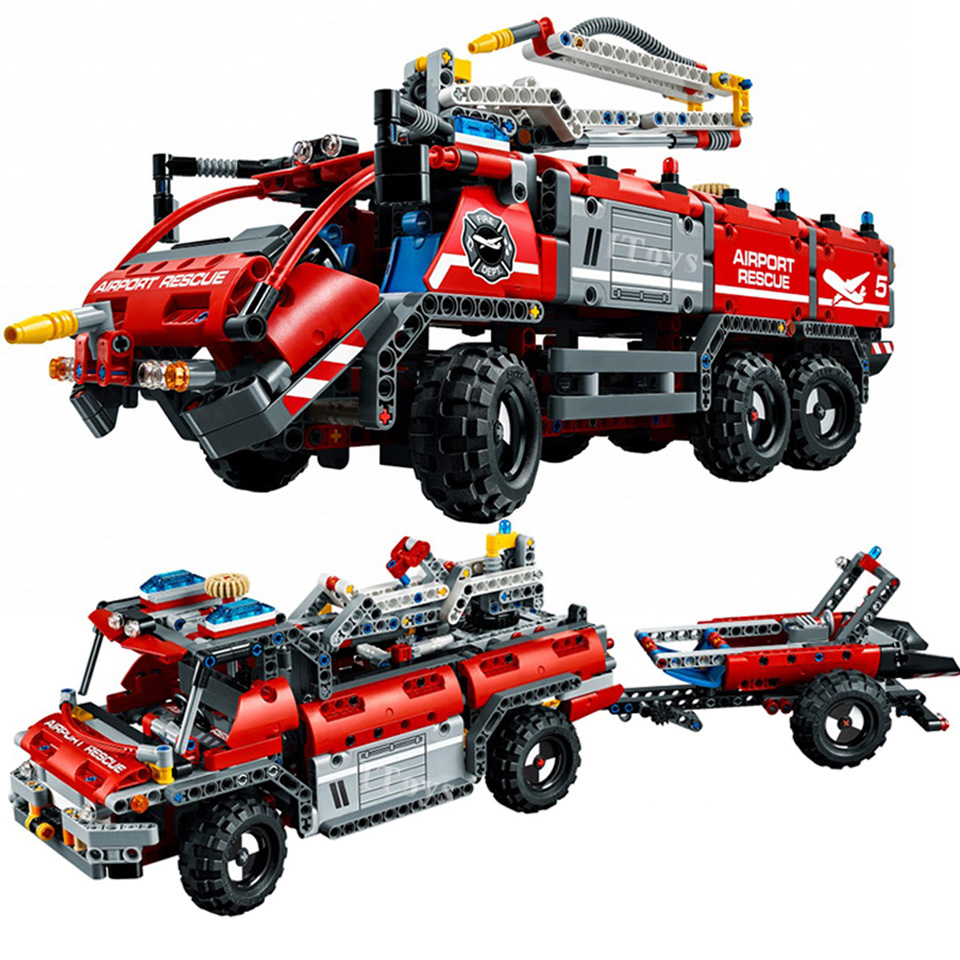 Rescue Fire Vehicle Compatible With Technic <font><b>42068</b></font> City Car Model Building Blocks 1180 Piece Bricks Birthday Gifts Toys image
