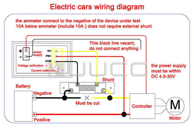 Digital Voltmeter Ammeter DC 0 100V 10A Voltage Current Meter 2in1 Digital Tester Panel Meter DC_640x640q70 100 v motor wiring diagram wiring diagram online