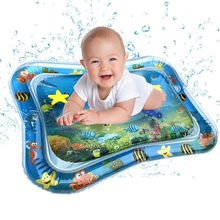 Baby Kids water play mat Inflatable Infant Tummy Time Playmat Toddler Fun Play to promote hand-eye coordination(China)