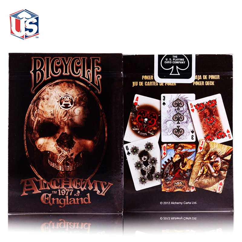 New Magicians Favorite Original Alchemy England Deck Playing Cards Advanced Paper Poker Magic Tricks Gift Collection Poker ...