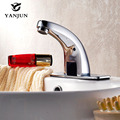Yanjun Automatic Touchless Sensor Faucet Bathroom Basin Tap Brass Chrome Finish DC6V Or AC220V